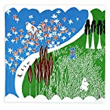 MOOMIN(ムーミン)Tribute Works ハンカチ 50×50cm ここにいるよ グリーン 日本製