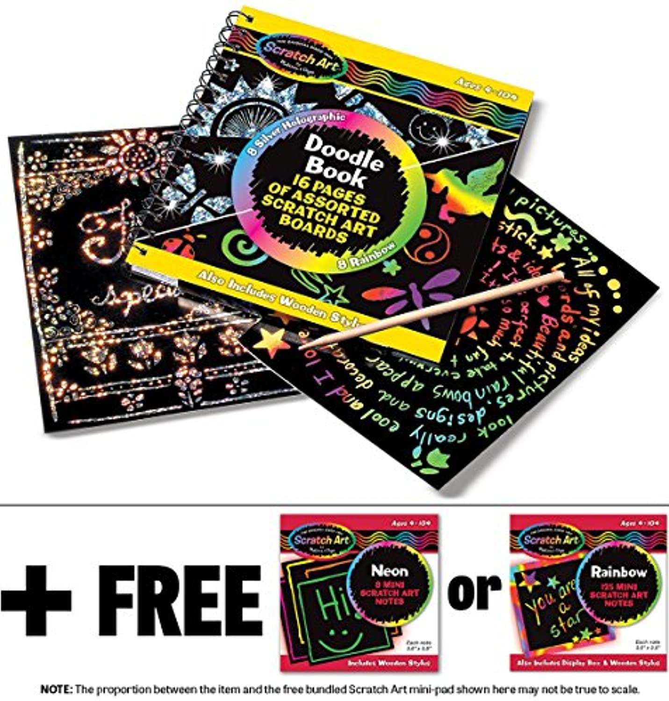 Scratch Art Doodle Pad + FREE Melissa & Doug Scratch Art Mini-Pad Bundle