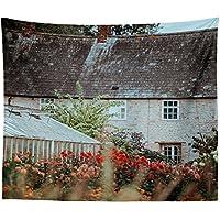 Westlakeアート壁吊りタペストリー – 内部Garden – 写真ホーム装飾リビングルーム – 51 x 60in