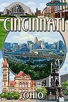 シンシナティ、オハイオ州–モンタージュシーン 12 x 18 Art Print LANT-45951-12x18