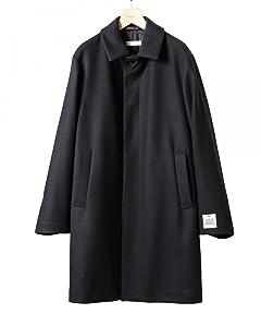 Melton Balmacaan Coat 1225-104-7330: Navy