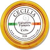 CECILIA 'Signature formula' Rosin for Cello, Rosin Specially Formulated Cello Rosin for Cello Bows (New 'Liquid Form Blending