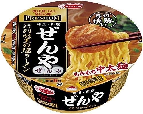 エースコック 一度は食べたい名店の味PREMIUM ぜんや 行列必至の塩ラーメン 118g×12個