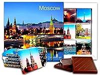 DA CHOCOLATE キャンディスーベニア モスクワ チョコレートギフトセット 13x13cm 1箱 (夜)