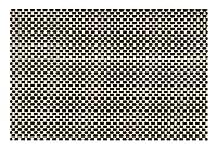 "Kraftware 44337The everytableコレクション長方形プレースマットのセット12、18"" x 12""ブラック/イエロー織り"