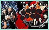 鉄拳 7 フェイスプレート レッド (VEWLIX レイアウト) (マッドキャッツ ファイトスティック TE2 TE2+ 対応)