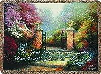 Thomas Kinkade Victorian Garden with Bible Verse Throw [キッチン]