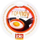 """MSC International FBA_50600 50666 Joie Eggy 3.5"""" Non-Stick Silicone Compact Egg Ring with Folding Handle, Orange"""