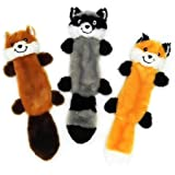 JoyToy Dog Squeaky Toy - 3 Pack Dog Toys - No Stuffing Squeaky Plush Dog Toy for Small Dogs
