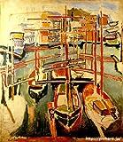 デュフィ 「マルセイユの古い港」 原画同縮尺近似(15号) dufy-03-05