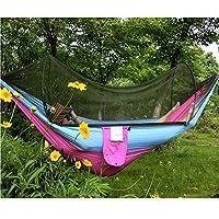 屋外蚊帳ハンモック超淡色マッチングダブルキャンプ250×120 cm C