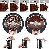 コーヒーミル 電動式 コーヒーグラインダー KINGTOP 豆挽き 200Wハイパワー KH-001 日本語説明書付き