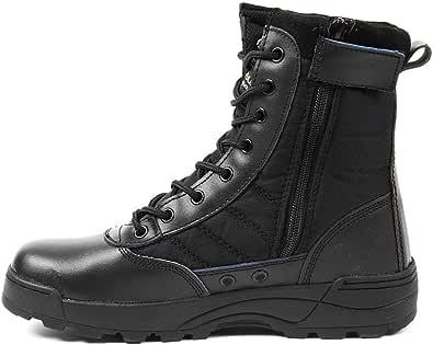 R-STYLE ミリタリースタイルな足下 サバゲー にも YKK監修 第三世代 サイドジッパー タクティカル ブーツ (ブラック, measurement_27_point_5_centimeters)