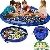 Toy Storage Bag, OUTERDO Large Tidy Bag Kids Rug Portable Kids Toys Organizer Storage Drawstring Bag Play Mat 150cm