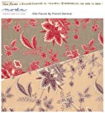moda fabrics 【30cm以上】Moda 大人気French General フランスのアンティーク柄のような色合いが特徴♪花柄プリント生地◆モダの布地 【モーダ】【輸入生地】【USAコットン】【手芸の柳屋】 15 紫系