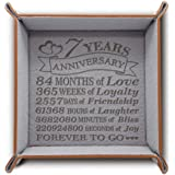 BELLA BUSTA-Traditional 7 Years Anniversary-Forever to go-Engraved Wool Tray with Breakdown Dates-Storage & Organization Jewe