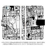 iPhone7 手帳型 ケース [デザイン:4.モノクロコマ/マグネットハンドあり] だがしかし 正規ライセンス アイフォン スマホ カバー