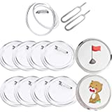 18 Pack Button Badges 2.55inch Large Acrylic Custom Buttons Clear Button Pin Maker for Craft Supplies, DIY, Small Picture Fra