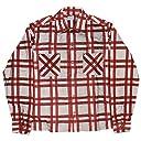 (スタンダードカリフォルニア) STANDARD CALIFORNIA プリントフランネルチェックシャツ Red/Gray Mサイズ