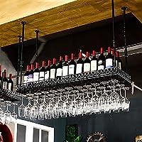 ワインカップホルダーサスペンションレトロ装飾ワインラックバーカップホルダーワインカップホルダーゴブレットフレーム (色 : B, サイズ さいず : 60 * 35cm)