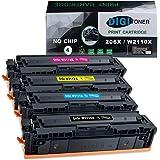 DIGItoner Compatible 206X W2110X W2111X W2112X W2113X Toner Cartridges Replacement for HP Color Laserjet Pro M255dw MFP M283f