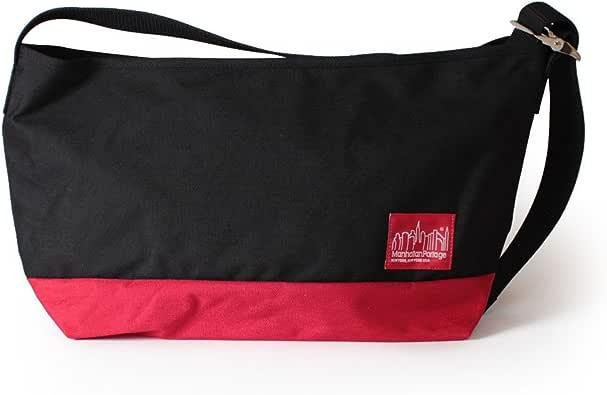 マンハッタンポーテージ Flatbush Messenger Bag フラットブッシュ メッセンジャーバッグ MP1632V メンズ レディース BLACK/RED