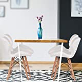 Levede 4X Retro Replica PU Leather Dining Chair Office Cafe Lounge Chairs White White
