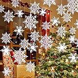 クリスマスオーナメント 雪花飾り 12枚3Dスノーフレーク 1個雪花ガーランド 雪の結晶 冬 クリスマス 新年 パーティー飾り