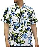 (ルーシャット) ROUSHATTE アロハシャツ 半袖 シャツ レーヨン ハイビスカス 12color LL 柄A