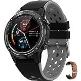 智能手表 內置GPS方位磁針 高度計 氣壓計 搭載指南針 運動手表 smart watch 智能手環 手表 男女 男士 女士 通用 各種運動模式 SNS通知 搭載遙控快門功能 IPX67防水 Bluetooth5.0 健康管理 BP 測量 心率計 計