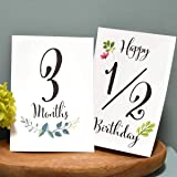 3才まで使える!ベビーマンスリーカード 月齢カード・水彩葉 ハガキサイズ16枚 説明書・専用封筒付き 赤ちゃんの月齢フォ…