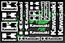 オートバイとバイクのデコレーションステッカーデコレーションサイズのプロモーションセット Kawasaki