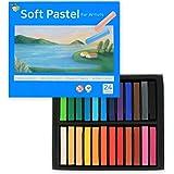 (24色) HASHI ハシ 専門家用 無毒性 ソフト パステル セット - チョーク パステル カラー soft long pastels For professionals