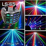 蝶型 LEDステージ ライト LS-65 パーライト PARライト リモコン付 DMX対応モデル/ステージライト/ ディスコ / 舞台 / 演出 / 照明