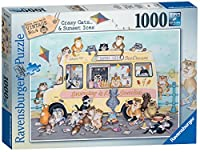 Ravensburger Linda Jane Smith Vintage No.3 - Crazy Cats - Sunset Ices 1000pc Jigsaw Puzzle