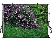 lylycty 7x 5ft自然景色バックドロップ花のBouquetsグリーンGrass写真背景とスタジオ写真バックドロップProps lylx205