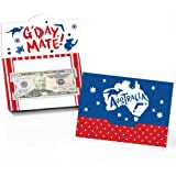 Big Dot of Happiness Australia Day - G'Day Mate Aussie Party Money and Gift Card Holders - Set of 8