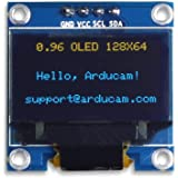 UCTRONICS 0.96 Inch OLED Module 12864 128x64 Yellow Blue SSD1306 Driver I2C Serial Self-Luminous Display Board for Arduino Ra
