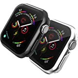 TERSELY[2 Pack] Case Overall Protector for Apple Watch Series 6/SE/5/4 44mm, Full Coverage Protection Bumper All-Around Surro