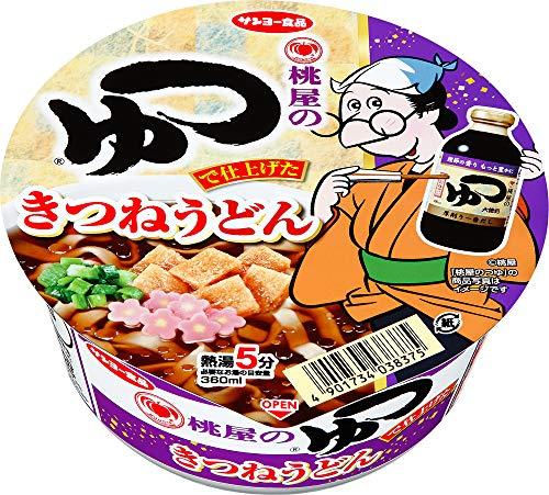 サンヨー食品 「桃屋のつゆ」で仕上げた きつねうどん 94g ×12個