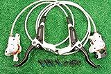 シマノ(SHIMANO)油圧 ディスクブレーキ BL-M445 BR-M447 ローター無 前後セット 新品 ホワイト 自転車 自転車パーツ