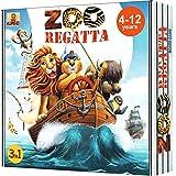 ZOORegatta – 受賞歴のあるアドベンチャーファミリーボードゲーム 4歳以上のお子様向け – 最高のアクションと教育用キッズボードゲーム 家族向け