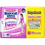 Magiclean Wiper Dry Sheets, 40ct
