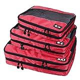 (バッグスマート)BAGSMART アレンジケース 3点セット ダブルポケット オーガナイザー ポーチ 2段式 収納 衣類 旅行用品 プレゼント ギフト