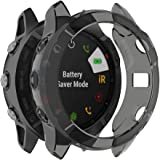 RuenTech Case Cover Compatible with Garmin Fenix 6X/6X Pro/Fenix 6X Sapphire Case Protector TPU Protective Case Frame for Fen