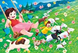 300ピースジグソーパズル アルプスの少女ハイジ ハイジのブランコ(26×38cm)
