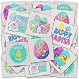 ArtCreativity Temporary Easter Tattoos for Kids, Bulk Pack of 144, 2 Inch Non-Toxic Tats Stickers for Boys and Girls, Fun Eas