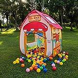 ノーブランド キッズテント子供用テント室内ボールハウス子どもおもちゃ知育玩具秘密基地女の子出産祝いお誕生日プレゼント折りたたみテント50個カラーボール付き収納バッグ付き