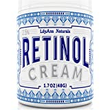 Retinol Cream Moisturiser for Face and Eyes, Use Day and Night - for Anti Ageing, Acne, Wrinkles - made with Natural and Orga