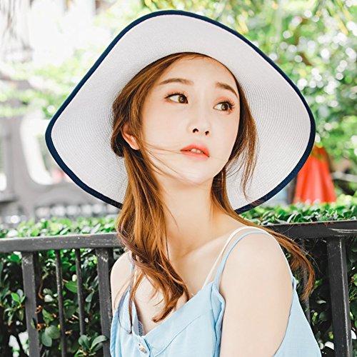 581beb1fd80  해외 HAIPENG 캡 여성 차양 모자 고리 넓은 밀짚 모자 턱 스트랩 자외선 차단제 여름 해변 여행~ 5 색 차양 모자 HAIPENG  cap ladies sun shade hat brim wide straw ...